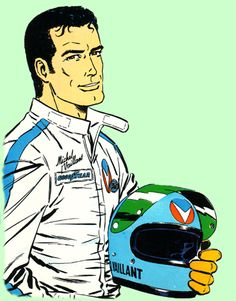 Created by French author Jean Graton in Michel Vaillant is the main pilot of the racing team Vaillante. Iconic Characters, Comic Book Characters, Comic Book Heroes, Comic Books, Fictional Characters, Lucky Luke, Steve Mcqueen, James Dean, Macau