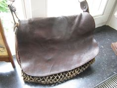 Beautiful antique leather Hunting bag from France around 1920 ...