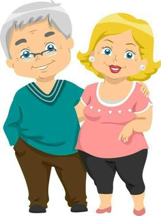 Picture of Illustration of Happy Senior Couples stock photo, images and stock photography.