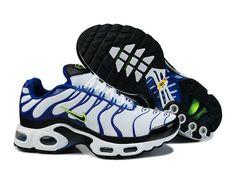 Chaussures de Nike Air Max Tn Requin Homme Blanc et Bleu Tn Nike Requin Pas  Cher 2550078a7e5