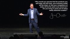 Why would you assume that the products you sell today will still exist your business model will be intact or that your competitors of today will be the same ones tomorrow? Are you living in some sort of weird reality distortion bubble? - #Futurist Jim Carroll  Steve Jobs had it right and so do this now: read 10 Drivers of Disruption -> http://ift.tt/2sX3ExV
