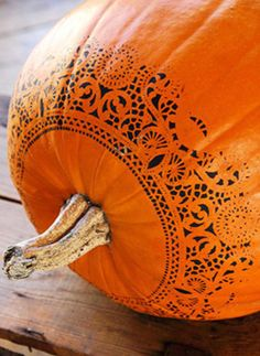 Pumpkin painting anyone? Makes me think of zentangle