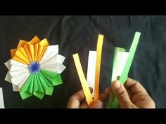 DIY Independence day Badge I DIY Republic Day Badge I How to make Indian flag craft - YouTube Indian Independence Day, Indian Flag, Republic Day, Badge, Instruments, Triangle, Queen, Diy, Crafts