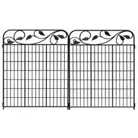 Lowes No Dig BlackPowder Coated Steel Fence Panel Common 44 in