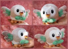 Rowlet - Plush Pattern for sale by Piquipauparro.deviantart.com on @DeviantArt