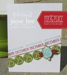 Pop & Place Tags and Stamps - AWW Oct 5 | Jane Lee http://janeleescards.blogspot.com