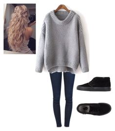"""""""Untitled #104"""" by brenna-belle on Polyvore featuring Frame Denim and Vans"""