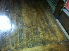 worst floor ever from Joshie...possibly just stain the filler and varnish over all for a better look?