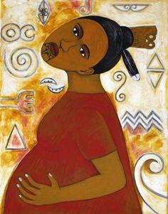 Hapū by Robyn Kahukiwa.