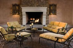 Create a glowing focal point with an outdoor fireplace or fire pit, and add year-round enjoyment to your deck, patio or porch.
