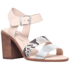 Miss KG Pariss Block Heeled Sandals ($59) ❤ liked on Polyvore featuring shoes, sandals, nude, gladiator sandals, high heel sandals, women shoes, flat sandals and closed toe sandals