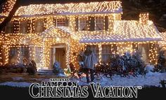 national lampoons christmas vacation christmas lights holiday home exterior Holiday Lights, Christmas Lights, Christmas Fun, Holiday Fun, Christmas Houses, Christmas Displays, Holiday Ideas, Magical Christmas, Christmas Parties