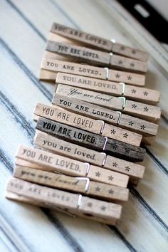 simple + lovely :: clothespins by quotesandnotes