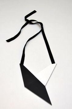 AumorFia | Polygons | Bird | leather necklace