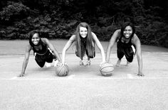 Senior Basketball player girls...senior portrait fun!