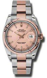Rolex Datejust 36 Automatic Pink Champagne Dial Steel and Pink Gold Mens Watch Luxury Watches, Rolex Watches, Buy Rolex, Art Watch, Oyster Perpetual Datejust, Black Mother, Rolex Datejust, Bracelet Watch, Pink Champagne