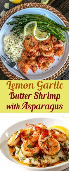 Lemon Garlic Butter Shrimp with Asparagus – this is an easy, light and healthy dinner choice that is cooked in one pan and can be served at your table in 15 minutes. Butter meat and asparagus flavored with lemon juice and garlic. Shrimp Recipes For Dinner, Seafood Dinner, Seafood Recipes, Healthy Dinner Recipes, Cooking Recipes, Shrimp And Asparagus, Asparagus Recipe, Shrimp Pasta, Lemon Garlic Butter Shrimp