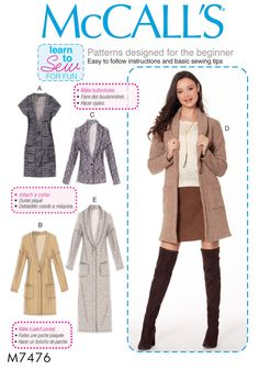 Learn to Sew a Knit Cardigan Pattern Beginner Sewing by blue510
