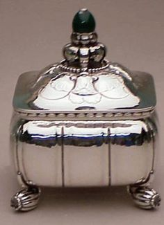 Georg Jensen Sterling Silver covered Box  - Doyle