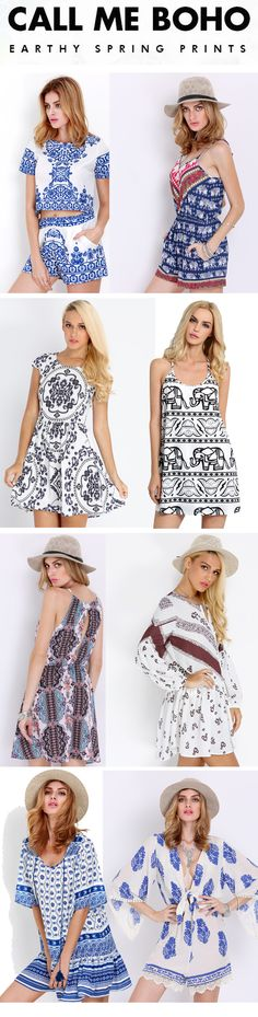 Beautiful ethnic print dresses sale from US$11.99. Lovely boho print dress, sexy print backless dress and style tribal print jumpsuit for you. http://www.romwe.com/www-ethnic-print-vc-1523.html