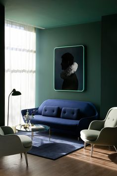 6 Colorful interiors that embrace a modern vibe - Daily Dream Decor Living Room Green, Green Rooms, Living Room Paint, Living Room Decor, Living Rooms, Living Spaces, Home Interior Design, Interior Architecture, Interior Decorating