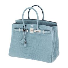 Hermes birkin ciel matte alligator Blue Handbags 57de2114f6