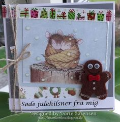 Fasters korthus: house mouse christmas card 2