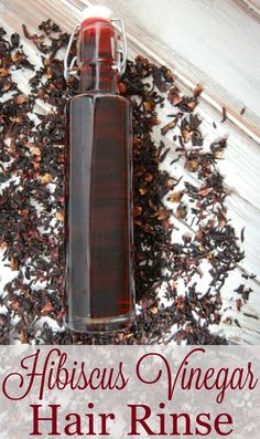 Hibiscus Vinegar Hair Rinse for Smooth and Shiny Hair Hibiscus Vinegar Hair Rinse- Hibiscus has been said to help prevent premature graying, encourages hair growth, conditions hair making is more smooth and shiny, and gives your hair bounce! Vinegar Hair Rinse, Vinegar For Hair, Diy Hair Rinse, Diy Hair Care, Hair Care Tips, Hibiscus, Natural Hair Care, Natural Hair Styles, Natural Shampoo