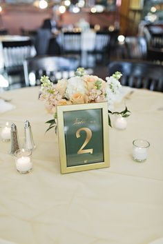 Gold and emerald table numbers #wedding #decor