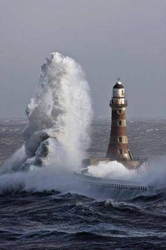 Giant wave, Seaham, England