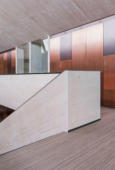 Förschner & Partner, Tax & Law Office - Design by Dreimeta :::modern, office, corporate, copper cladding, wood, stairs, vinyl flooring