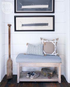 Coastal Muskoka Living Interior Design Ideas. Lacefield Sahara Midnight Lumbar Pillow with Tassels. #southernmade #designingwomen www.lacefielddesigns.com