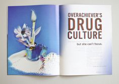 The Overachiever's Drug Culture: Editorial Spread on Behance