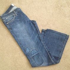 "Paper Denim & Cloth Jeans Size 28 Paper Denim & Cloth Bootcut Jeans in Size 28  cute pattern on right leg, in seam: 29"" Paper Denim & Cloth Jeans"