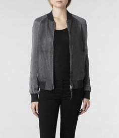 AllSaints Seine Bomber   Womens Leather Jackets