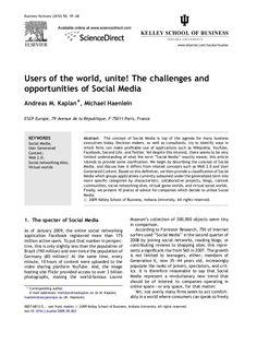 Business Horizons (2010) 53, 59—68                                                                                        ...