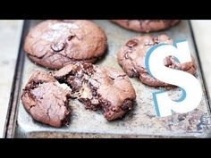 Salted Caramel + Nutella Stuffed Double Chocolate Chip Cookies  - Izy Hossack - Top With Cinnamon