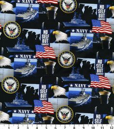 Military Navy Cotton Fabric
