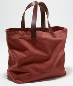 Waxed Canvas Tote Bag | Free Shipping at L.L.Bean --  $99  (I have a weakness for bags!)