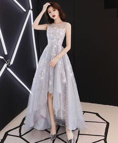 Unique Prom Dresses, Elegant Tulle Prom Dress, Appliques Long Evening Dress, Homecoming Dress, There are long prom gowns and knee-length 2020 prom dresses in this collection that create an elegant and glamorous look Dresses Elegant, Trendy Dresses, Sexy Dresses, Cute Dresses, Fashion Dresses, Dress Outfits, Formal Dresses, Summer Dresses, Wedding Dresses
