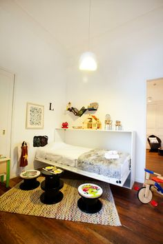 apartment of 45 m2_idea how to organize small children's room  by beata woznica