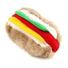 Hot Dog for your Haute Doggy Plush Squeaker Toy to Feed your Pooch Calorie Free   Big Dog Toy Box