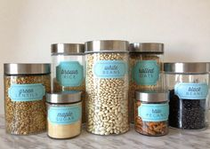 New Pantry Label Collections | 204 Labels including Basics, Vegan, Gluten Free, Baking, Bins and more!