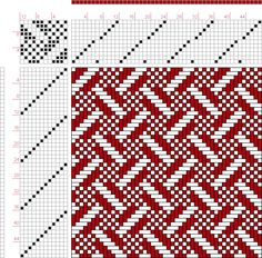 Weaving Draft 12 zu 12, 287, Old German Pattern Book, Untitled and Unbound, Germany, Uncertain Date, 1850-1900?, #12008
