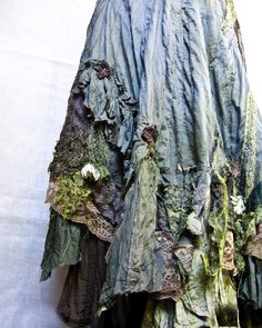 Gibbous Fashions, which cause me to wonder if this dress was fashioned for fairies, or me... Like a crazy quilt skirt!