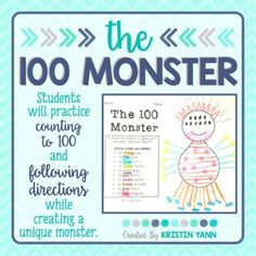 This simple activity is great for the 100th day of school or to see how well students can follow directions. You could also use this for practice counting to 10, counting to 100, or counting by 10's to 100. Enjoy!