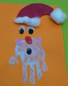 Sinterklaas schilderen mbv een hand Door 23964