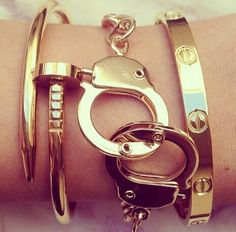 We saw this Cartier nail bracelet in Nassau and loved it!!! Until we heard the price