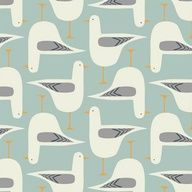 textile pattern - seagull - good muted colours