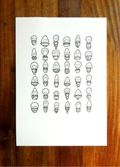 original illustration 'brighten' hand drawn by lightboxing